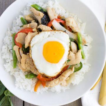Pad Kra Pao Gai- Thai Spicy Basil with Chicken