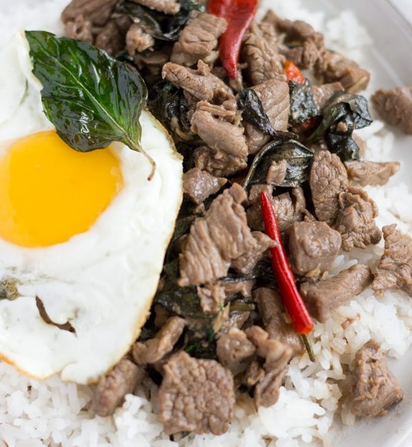 Pad Kra Pao Nueh- Thai Beef Basil on ThaiCaliente.com