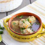 Chicken Albondigas- Mexican meatball soup