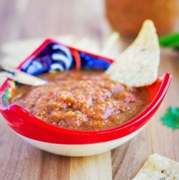 Thai Salsa Roja- Mexican roasted salsa with a Thai twist