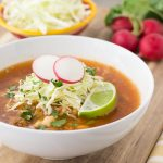 Posole Rojo from Guadalajara- Mexican Pork Stew with Hominy made in the instant pot