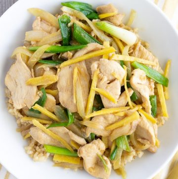 Gai Pad Khing- Thai Chicken with Ginger Stir Fry