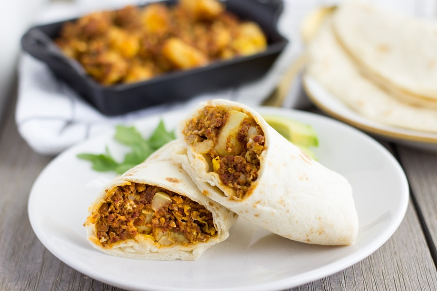 Chorizo Potato and Egg Burritos- ThaiCaliente.com