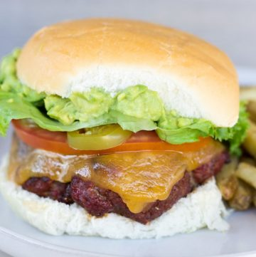 Chorizo Burger with Guacamole