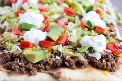 Crescent Dough Taco Pizza- ThaiCaliente.com