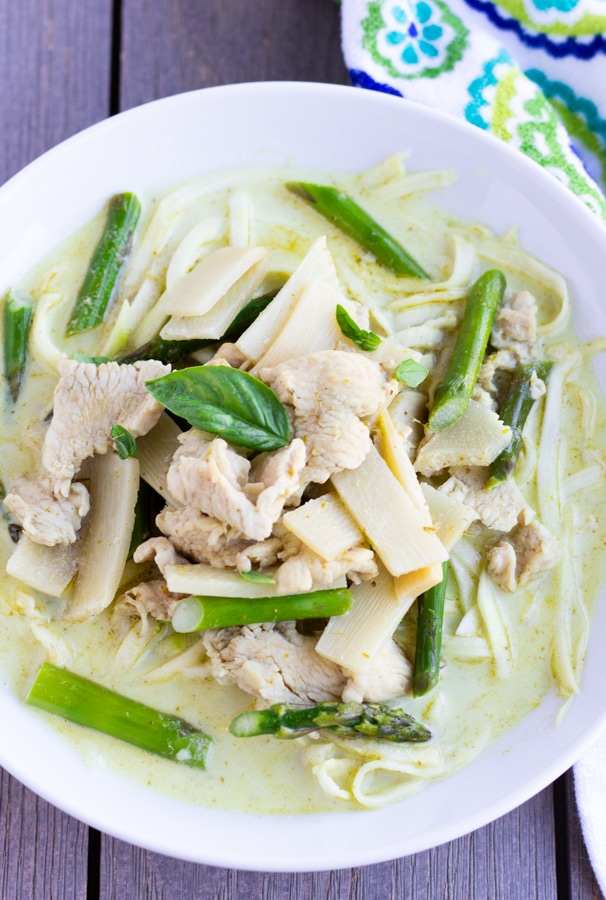 Thai Green Curry Chicken With Zoodles- ThaiCaliente.com