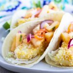 Panko Fish Tacos with Pineapple Salsa- ThaiCaliente.com