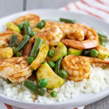 Red Curry Shrimp Stir Fry- ThaiCaliente.com