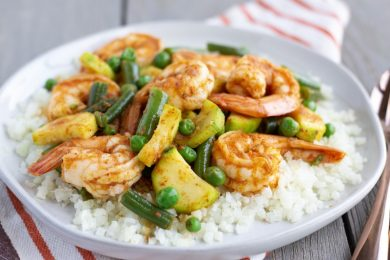 Red Curry Shrimp Stir Fry- ThaiCaliente.com