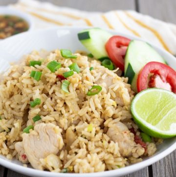 Khoa Phat Gai- Thai Fried Rice with Chicken- ThaiCaliente.com