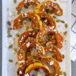 Roasted Delicata Squash with Pepitas and Feta Cheese- ThaiCaliente.com