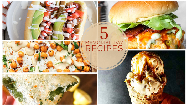 Text overlay 5 Memorial Day Recipes