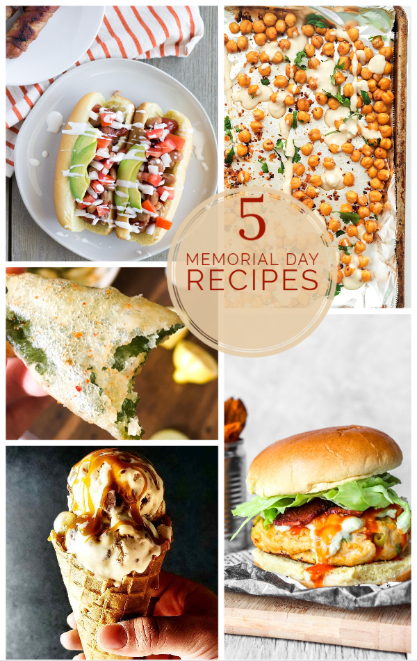 Collage of memorial day recipes